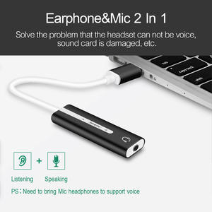 Jack Audio Microphone Headphone Adapter for Macbook PC 2 IN 1 USB External Sound
