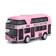 1:43 Car Model Double-decker London Bus Alloy Diecast Vehicle Toys For Kids Boys(China)