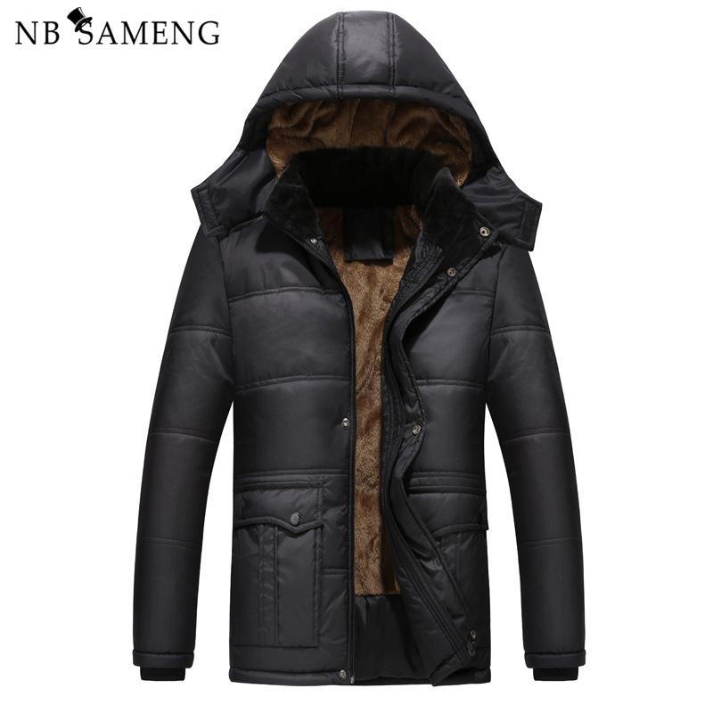 2018 New Brand Fashion Solid Color Cotton Mens Jacket Casual Winter Models Hooded Design Coat Free Shipping
