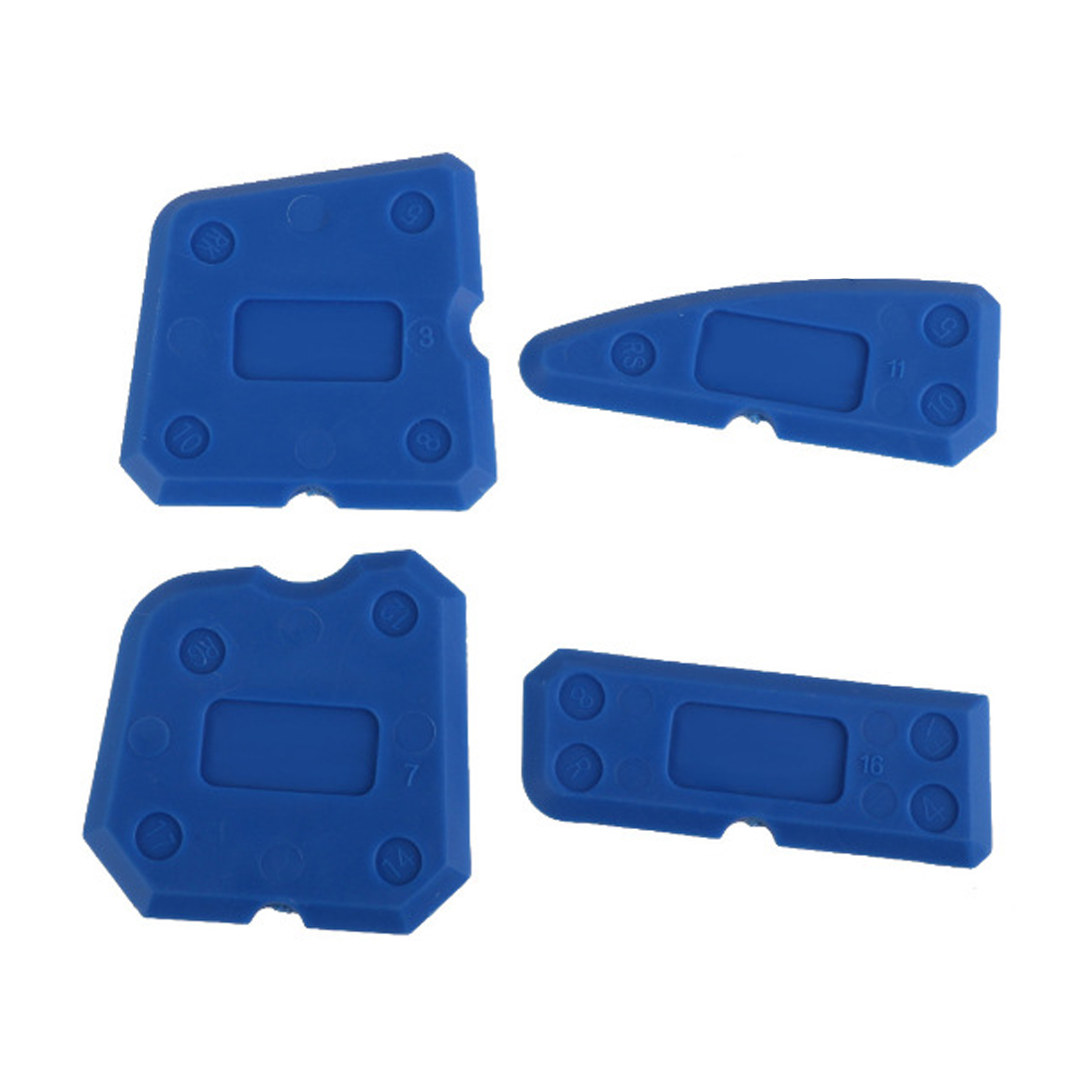 Купить с кэшбэком Caulking Tool Kit Joint Sealant Silicone Edge Grout Remover Scraper 4pcs Blue  Hand Tools Combination with Case PP + ABS