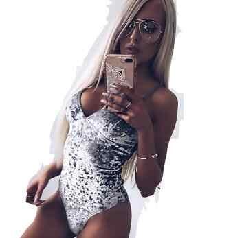 Clobee 2019 ฤดูใบไม้ผลิลึก V คอ Clubwear Party Feminino Mujer ผู้หญิง Bodycon เซ็กซี่ Rompers Bodysuits DJ191