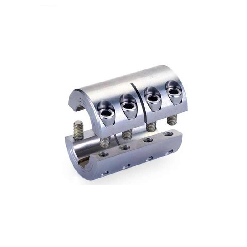 Paduan Aluminium Clamping Rigid Terintegrasi Coupling D63 L71 Model 10,11, 12.7, 14,15, 16,17, 18,19 20,22, 24,25 28,30, 32,35 Mm