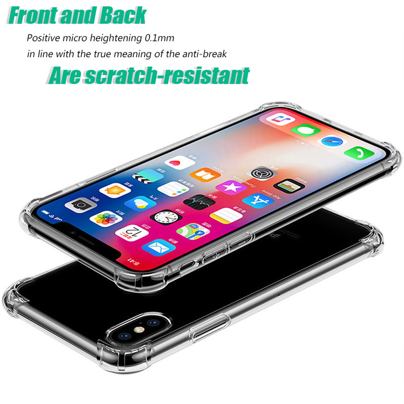 KIPX1046_2_Luxury Anti-knock Transparent Cases for iPhone XS XR XS Max Silicone Phone Cover for iPhone 5S SE 6S 7 8 Plus Soft Case
