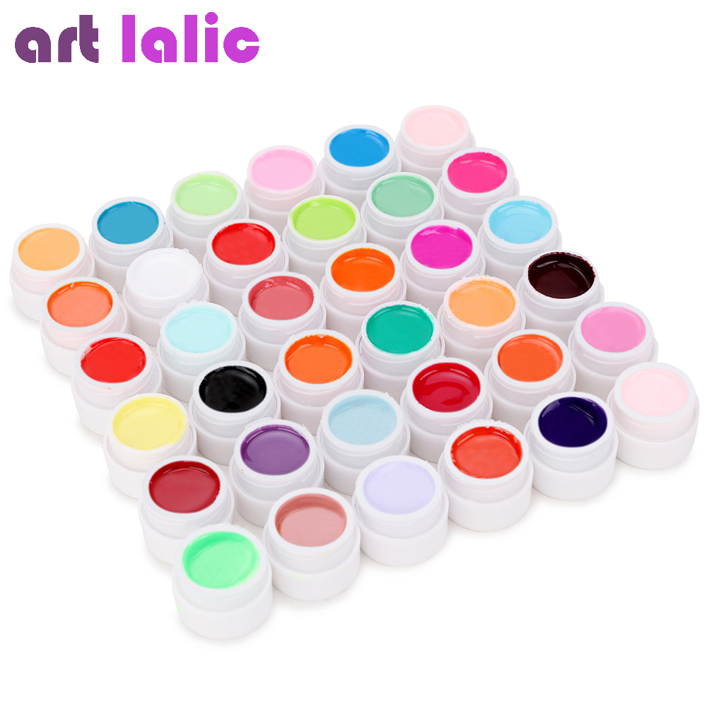 36 kleuren UV Gel Set Pure kleur Decor voor Nail Art Tips Extension Manicure DIY Tools Decoraties