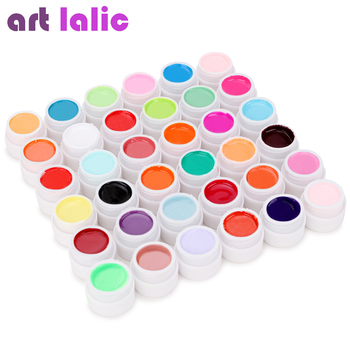 36 couleurs UV Gel ensemble couleur Pure décor pour Nail Art conseils Extension manucure outils de bricolage décorations