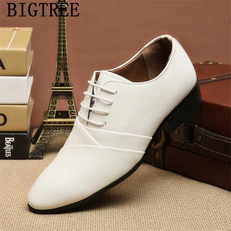 Мужские Белые модельные туфли; мужские свадебные туфли; Мужская обувь; коллекция 2019 года; кожаные официальные туфли; zapatos; оксфорды; hombre chaussure homme mariage