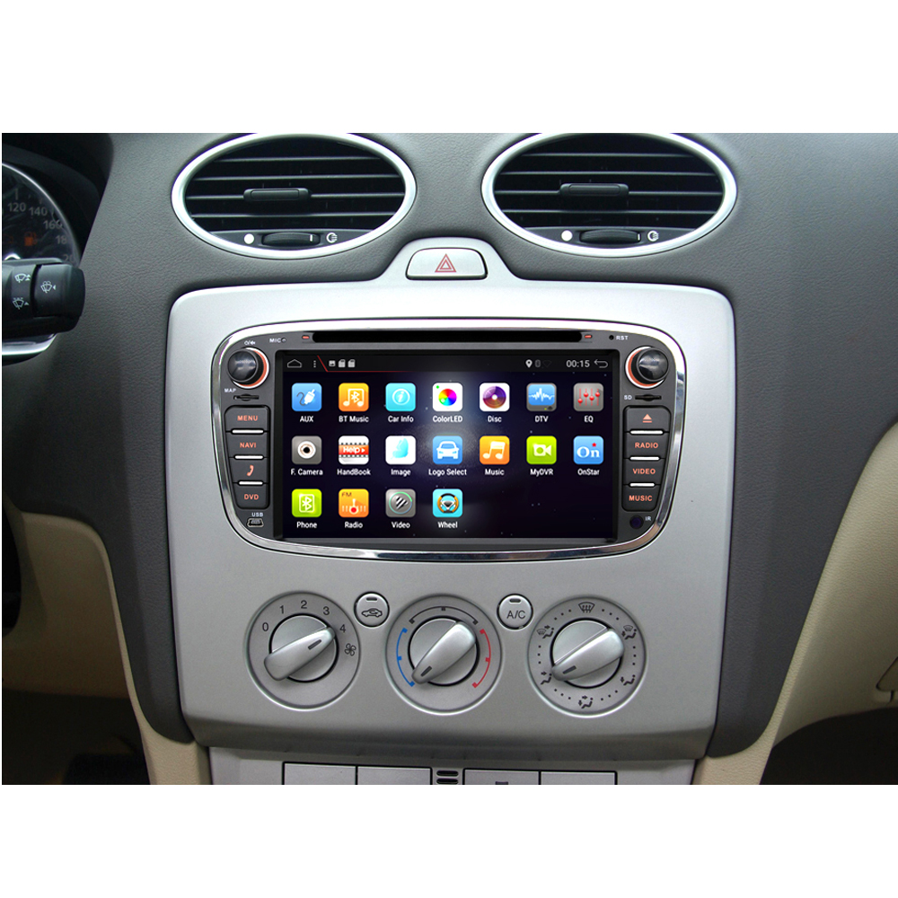 2 Din Android 9.0 Octa 8 Core Car DVD Player GPS Navigation WIFI 4G for FORD S-Max Kuga Fusion Transit Fiesta Focus