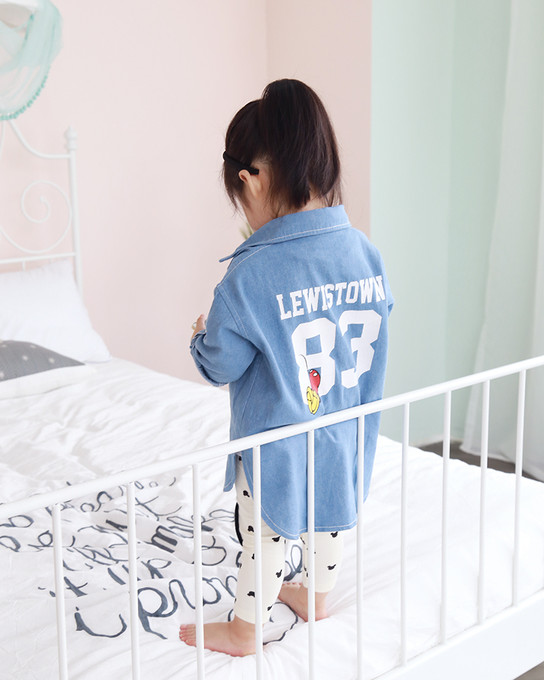 2016 Új divat Bébi ingek Gyermek farmer pólók Lány alkalmi - Gyermekruházat - Fénykép 4