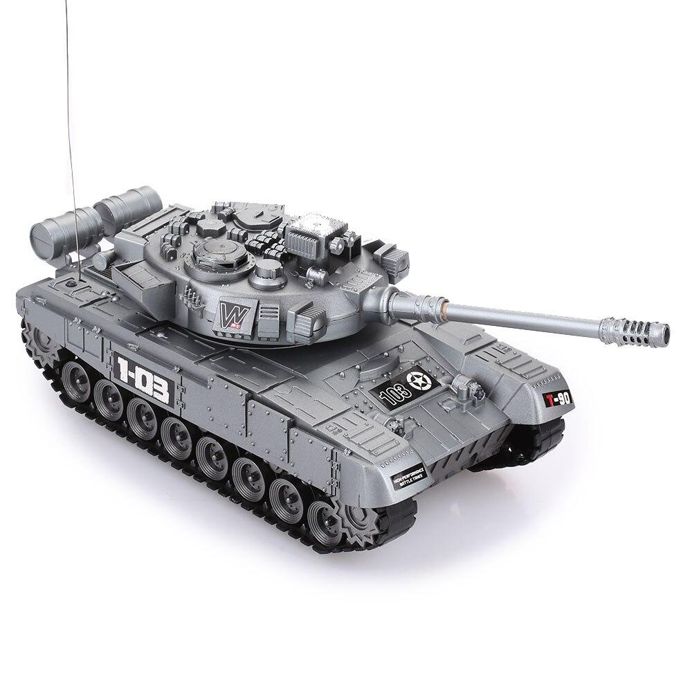 Прочный пульт дистанционного управления Танк модель начинающих способность Танк автомобиль игрушка для открытого воздуха Прямая - Цвет: Silver