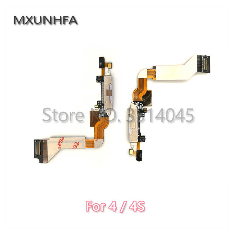 Charger Charging Port USB Dock Connector Flex Cable For IPhone 4 4G 4S Replacement Parts