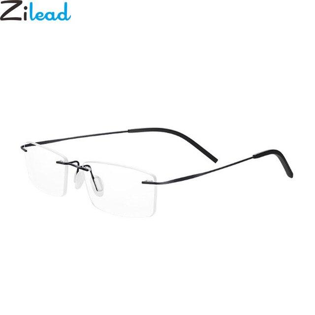 Zilead Rimless Ultra-Light Reading Glasses Brand Men Business Alloy Presbyopia Eyeglasses Unisex +1.0+1.5+2.0+2.5+3.0+3.5