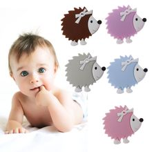 Hedgehog Silicone Teethers Animal Cartoon Baby Teether Teething Necklace Chew Charms Products Toddler Toys
