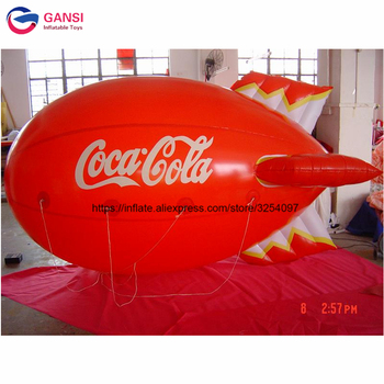 4m length inflatable balloon zeppelin helium blimp inflatable heliume airplane for activities fireworks advertising inflatable helium blimp air flying helium balloon for sale