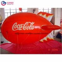 Heliume 4 m comprimento inflável balão de hélio dirigível zeppelin inflável avião para as atividades