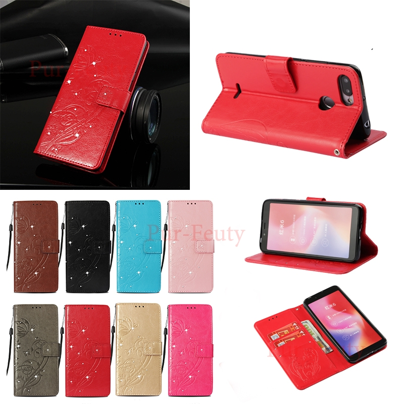 Cellphones & Telecommunications Well-Educated Case For Xiaomi Redmi 6 High Quality Wallet Leather Fashion Flip Phone Covers For Xiao Mi Red Red 6 M1804c3de M1804c3dt Redmi 6 Flip Cases