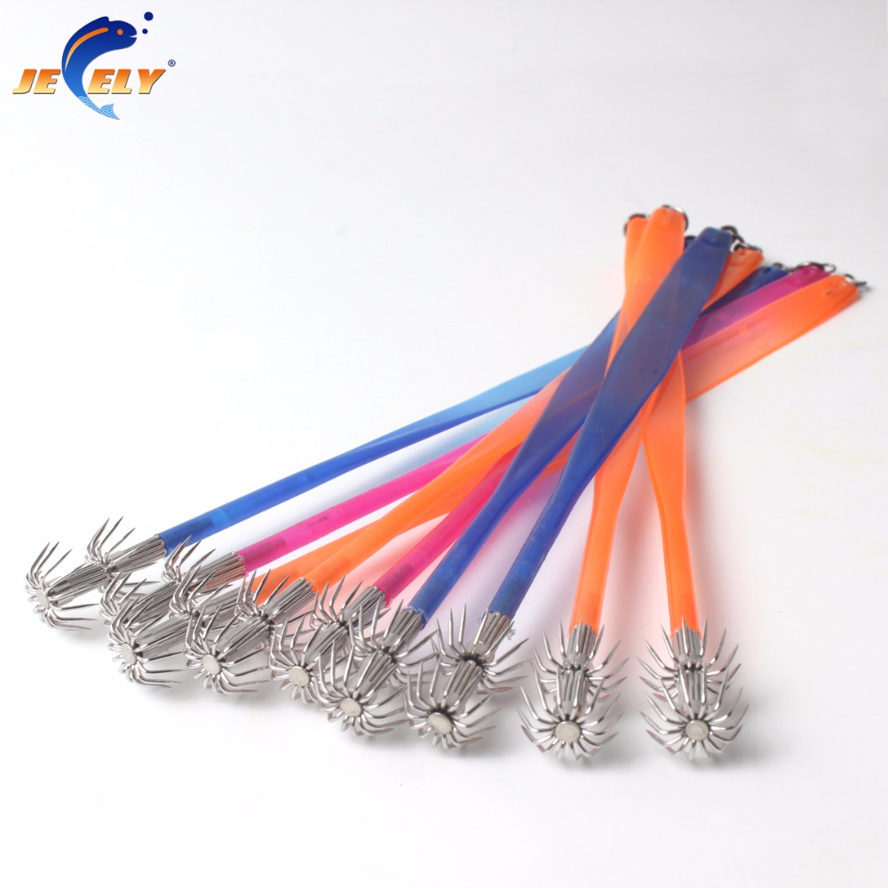 5pcs/<font><b>bag</b></font> 22cm 0.5g Soft Belt Saltwater <font><b>Squid</b></font> Octopus Cuttlefish Hook <font><b>Jigging</b></font> Lure image