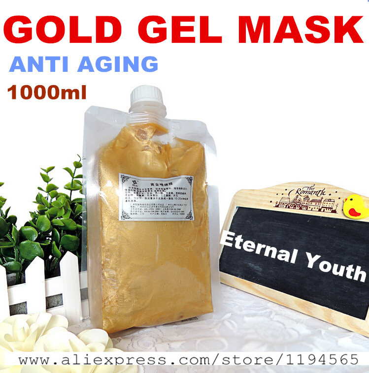 1KG 24k Gold Facial Mask Cream Gel Whitening Moisturizing Anti-wrinkle Anti Aging Hospital Equipment 1000g Beauty Salon Products 200ml gold hyaluronic acid moisturizing mask whitening anti aging agless skin care equipment beauty salon products