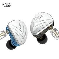 KZ AS16 гарнитура 16BA балансными арматурными единиц HIFI бас в ухо Monitor наушники Шум отменяя наушники для телефона
