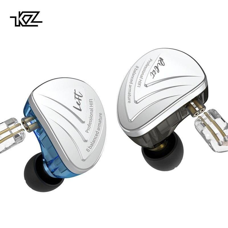 KZ AS16 casque 16BA unités d'armature équilibrées HIFI basse dans l'oreille moniteur écouteurs suppression du bruit écouteurs casque pour téléphone