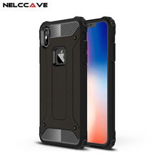 Luxury Rugged Dual Layer Armor Case For Apple For iPhone X XS Max XR Phone Case Heavy Duty Shockproof Hard PC + TPU Back Cover luxury phone case for iphone x xr xs max cover armor shockproof plating tpu pc glass mirror back cover for iphone xr xs max case