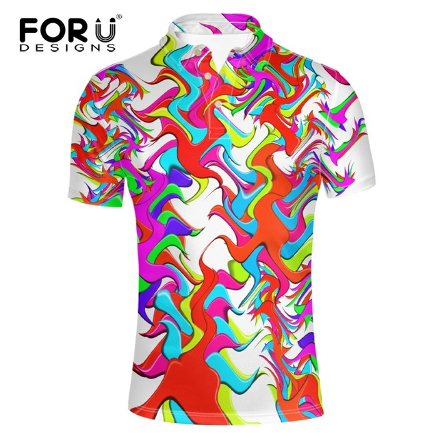 FORUDESIGNS Brand Men Polo Hombre Shirt Mens Fashion Collar shirts Short Sleeve Casual Camisetas Masculinas Polos Sweatshirt New