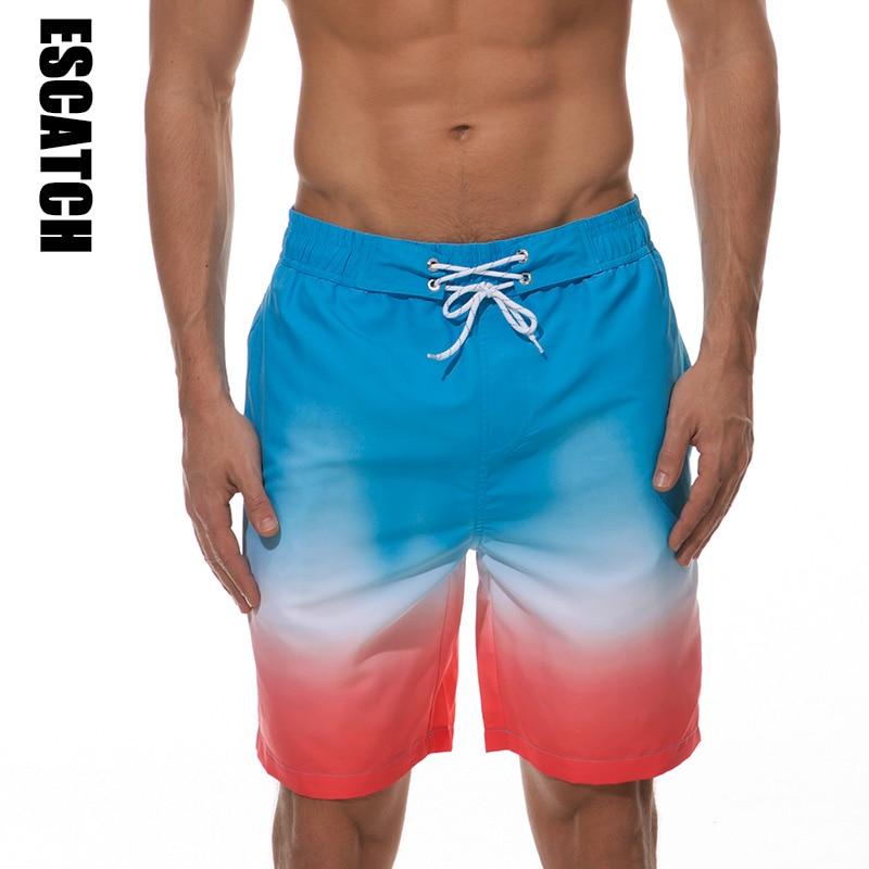 Shorts da Praia dos Homens Calções de Surf Homens Marca Board Shorts Quick Dry Verão Impressão Siwmwear Nadar Calças Curtas