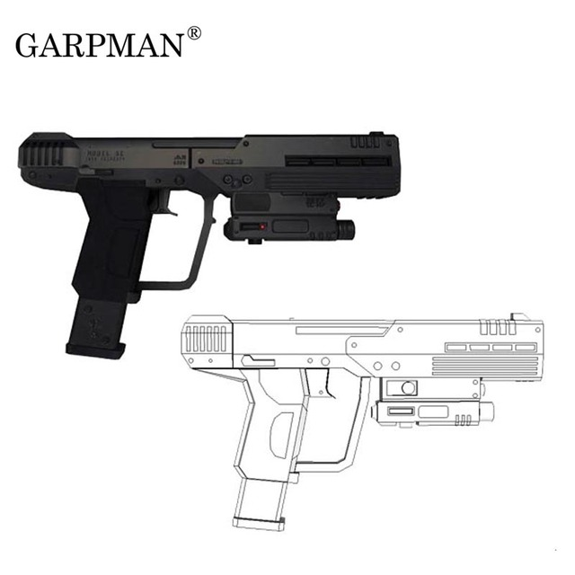 US $10 98 |Halo War Human Pistol M6 S Gun 3D Paper Model Manual DIY Can Not  Be Launched-in Card Model Building Sets from Toys & Hobbies on