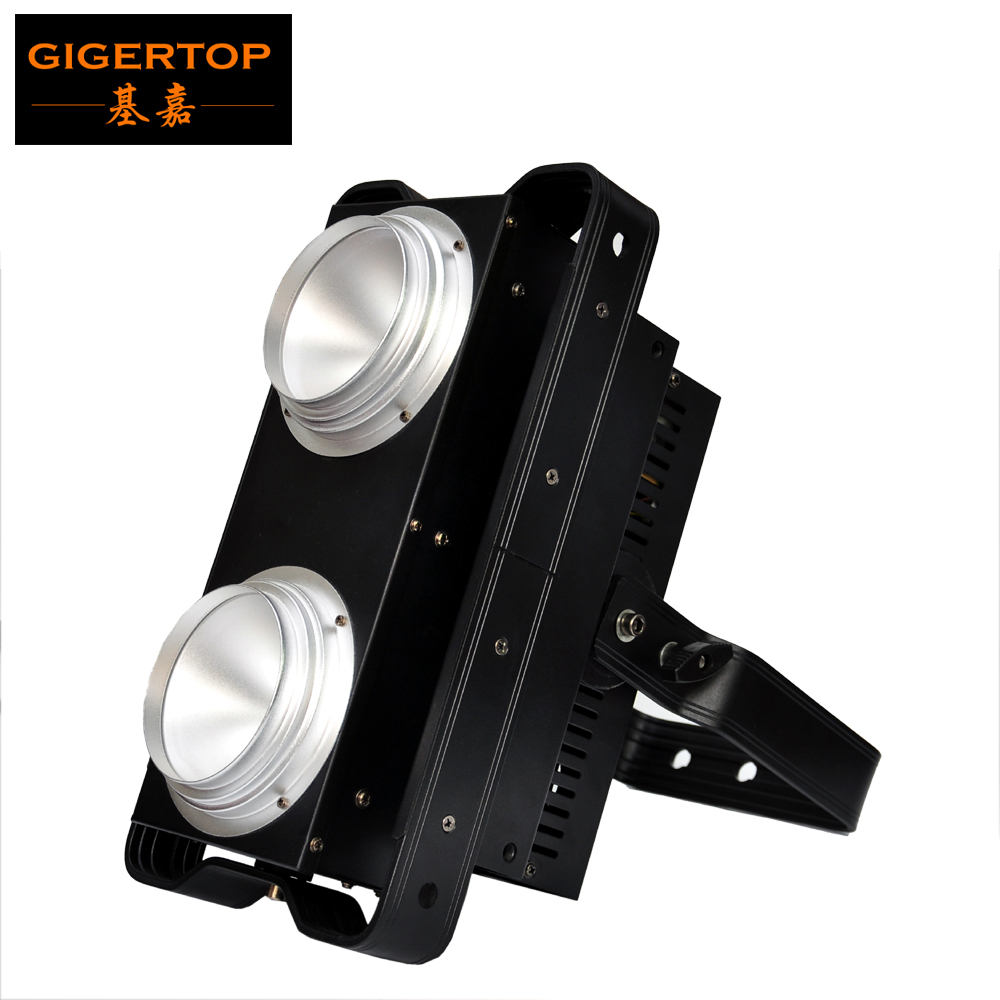 TIPTOP 2 Eye COB LED BLINDER Warm White/Cold White/2in1 CW WW Stage Led Audience Blinder Light Dimmer durations Curve Control tiptop tp l144 white beam effect led matrix 25x10w blinder light 25x10w warm white usa cree lamp high power auto sound dmx512