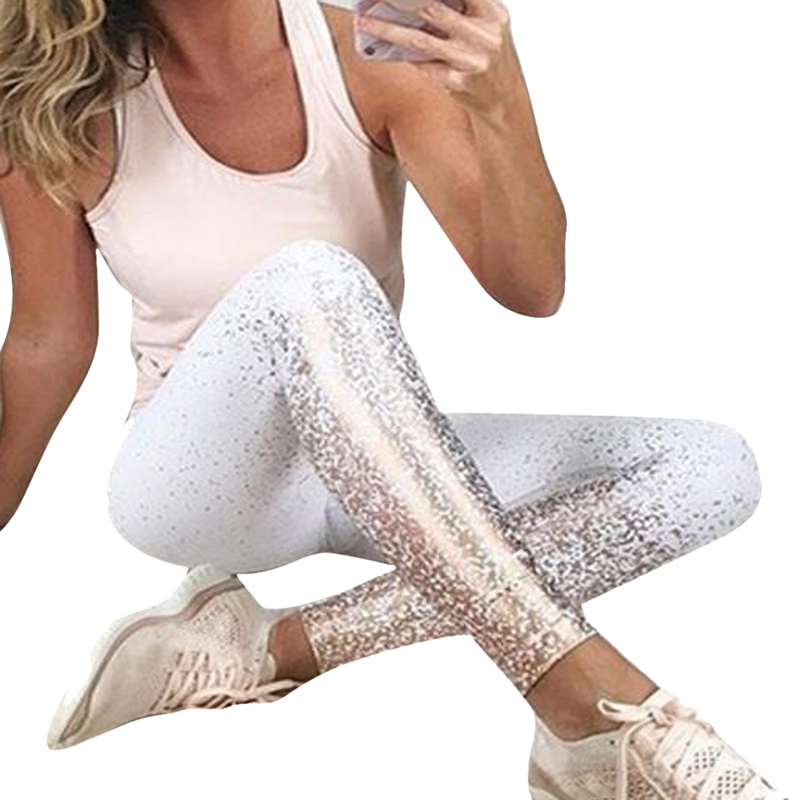 LASPERAL Fitness   Leggings   Women 2019 High Waist Pants For Ladies Gym Hot Stamping Leggins Bodybuilding Jeggings Women's Clothing