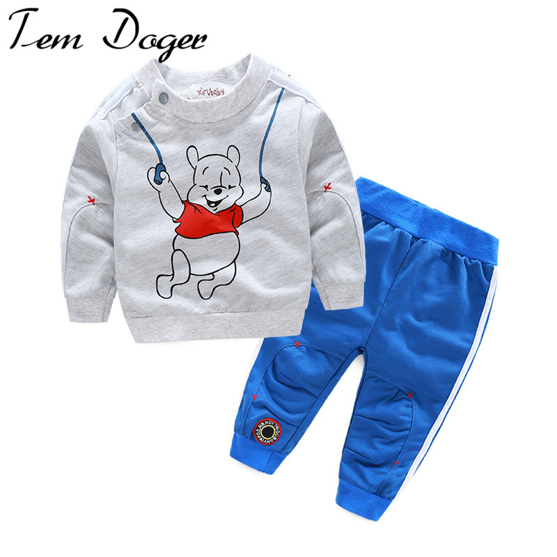 2016 autumn baby boy girl clothes Long sleeve Top + pants 2pcs sport suit baby clothing set newborn infant clothing bebe