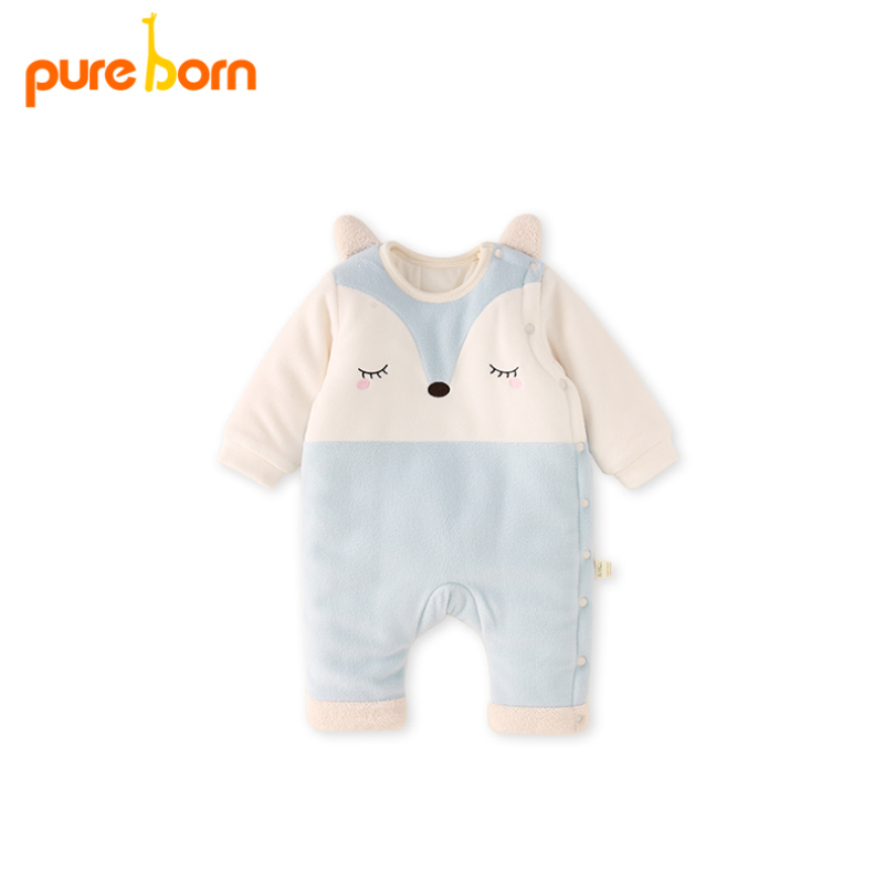 d718b639753b Pureborn Children Winter Overalls Baby Romper Baby Clothes Catoon Fox  Newborn Christmas Jumpsuit New Year s Costume for Boy Girl Tags