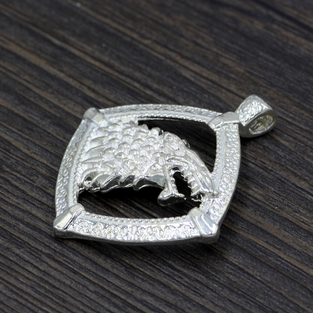 Game of Thrones Stark Wolf Head House Stark Pendant
