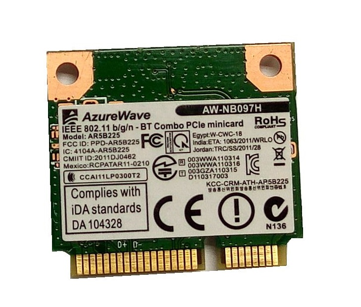 SSEA New Wholesale For AzureWave AW-NB097H AW-NB100H AW-NB126H AR3012 AR5B225 Half Mini PCI-E Wifi BT4.0 Wlan Wireless Card