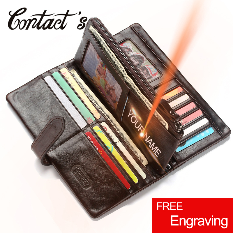 Hot Sale Vintage Wallets Men Brand Design Money Bag Genuine Leather Wallet Clutch <font><b>Dollar</b></font> Price Classic Male Coin Purse For <font><b>Phone</b></font> image