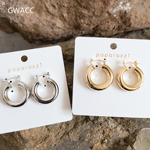 GWACC 2019 NEW Creative Design Womens Earrings Hollow Geometric Bohemian Vintage For Women Girls Trendy Modern Circle
