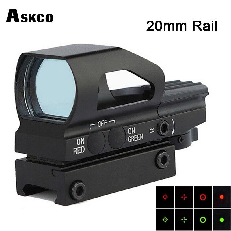 Hunting Optics 1x22mm 4 Different Reticles Red Dot Reflex Open Sight Riflescope For Pistol Airsoft Weaver 22mm Airsoft.gun