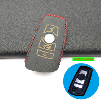 Leather Car Key Cover Case Fit for BMW E30 E34 E36 E39 E46 F10 F11 F31 G30 M Performance X1 F48 X3 X4 X5 Car Accessories image