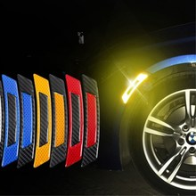 Car reflector warning carbon fiber all-purpose luminous sticker night protection