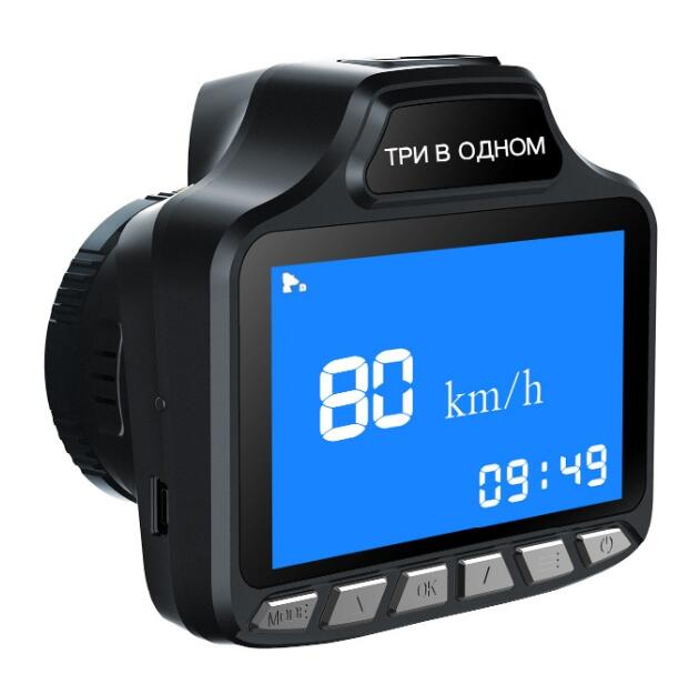 3 in1 Russian Car Radar Detector 3 TFT HD 720P Car DVR Camera tachograph Traffic warning device GPS Logger Tracker цена