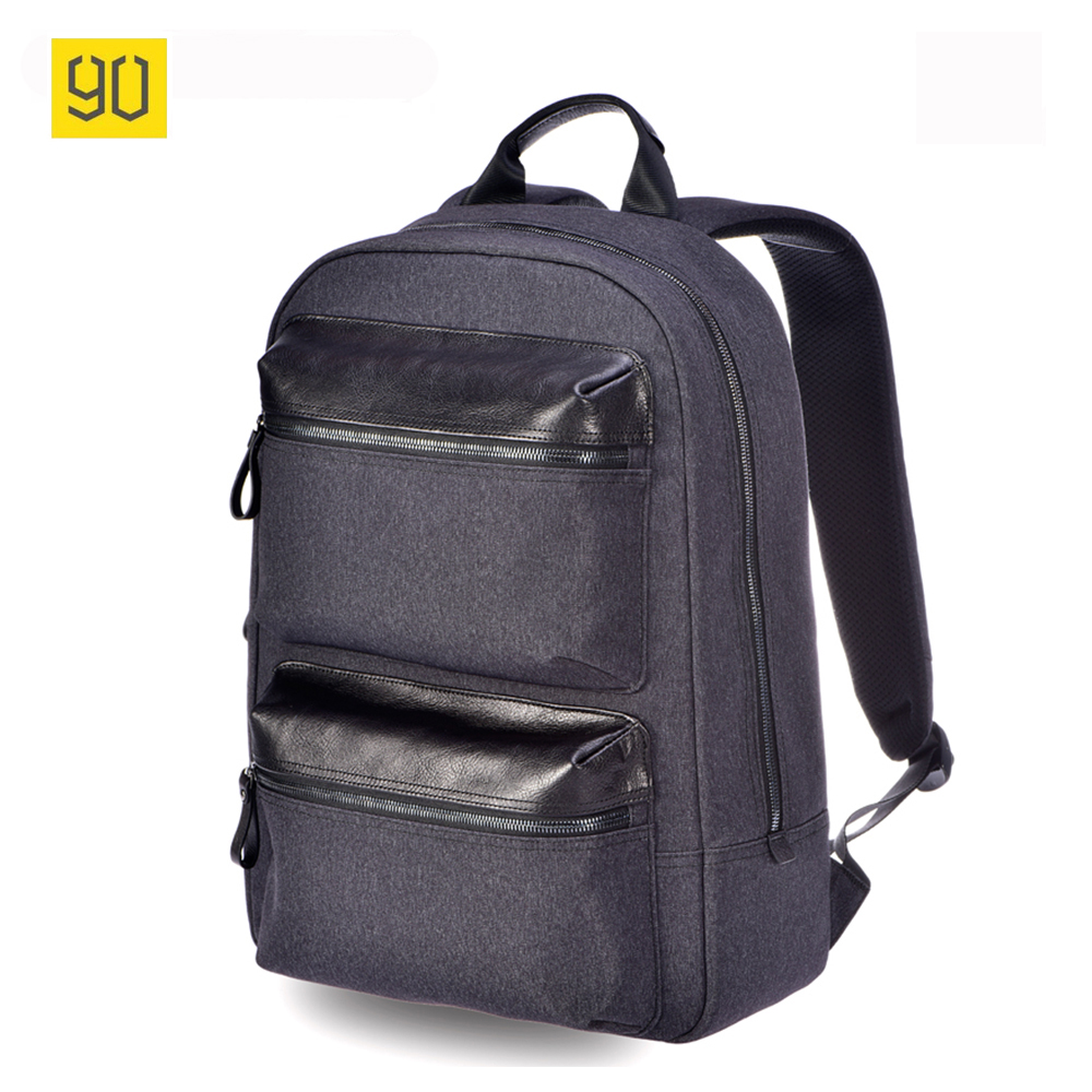 Original Xiaomi 90 Fun Multifunctional Genuine Leather Backpack Business Rucksack Fashion School Bag For 14 Inch