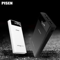Pisen power bank 20000 mAh Externe Batterie Universal 18650 batterie Dual Tragbaren Usb-ladegerät Mit Lcd-bildschirm Für iPhone 6 xiaomi