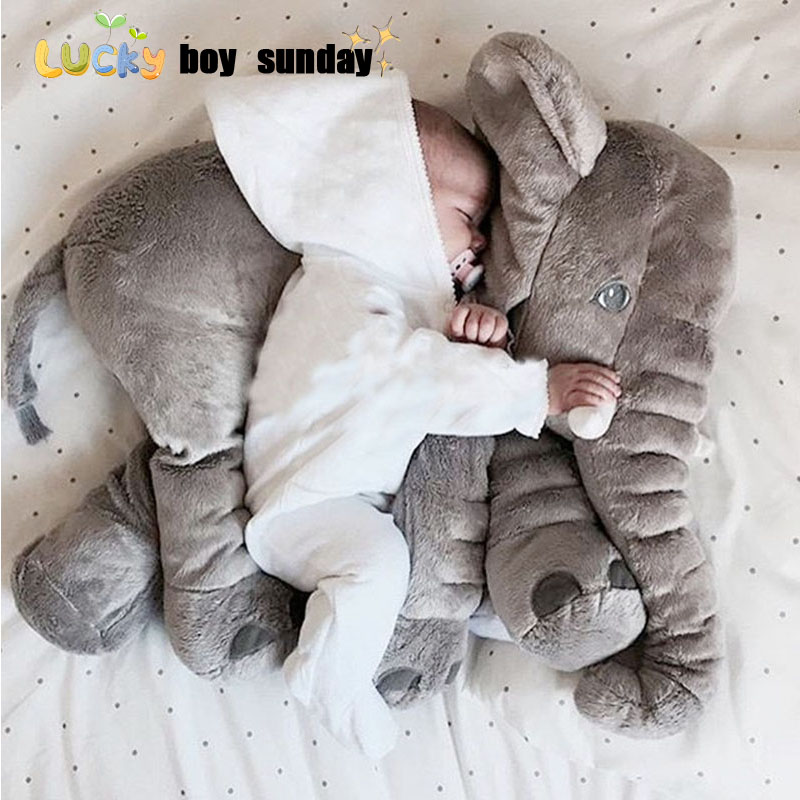 lucky boy sunday 60cm Elephant Plush Toy Cute Big Size Stuffed Kids Toy Baby Elephant Pillow Girlfriend Children Christmas Gift lucky boy sunday 60cm elephant plush toy cute big size stuffed kids toy baby elephant pillow girlfriend children christmas gift
