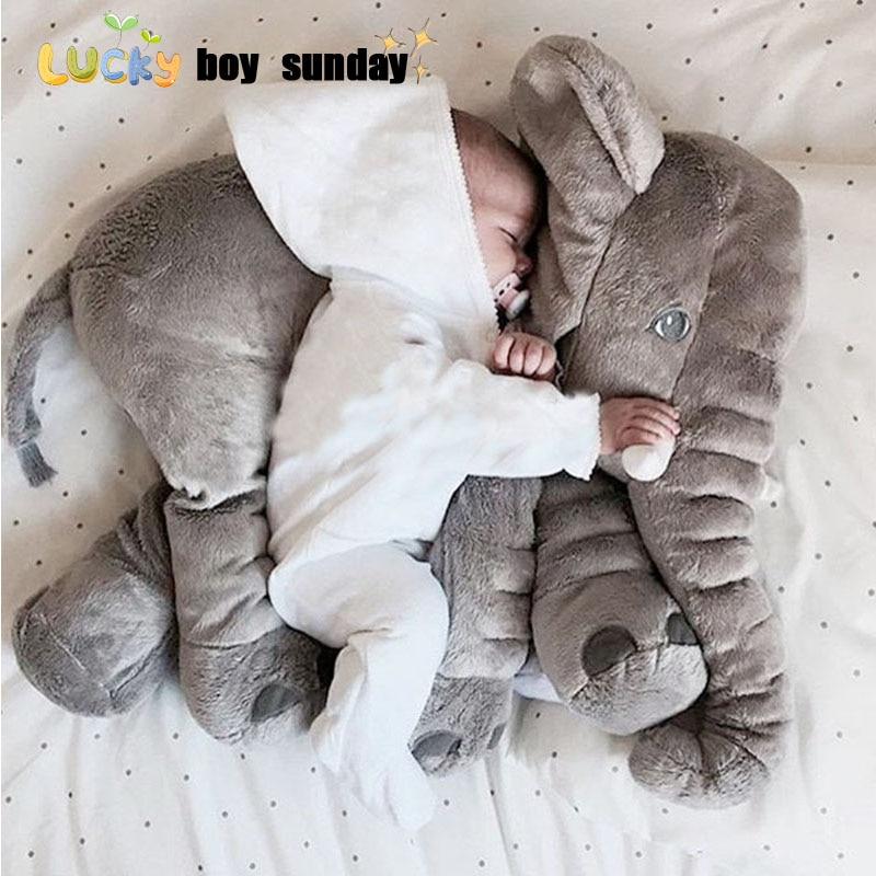 Lucky Boy Sunday 60cm Elephant Plush Toy Cute Big Size Stuffed Kids Toy Elephant Plush Pillow Girlfriend Children Christmas Gift