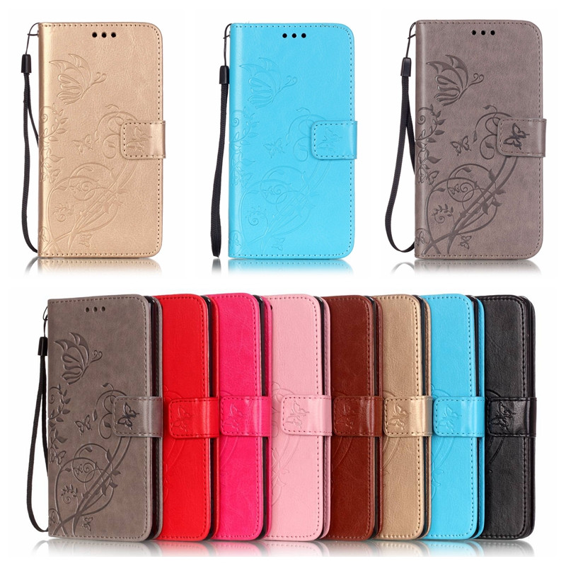 Luxury Butterfly Pattern Wallet Flip Leather Phone Case For HTC Desire 626 626G 626S Stand TPU
