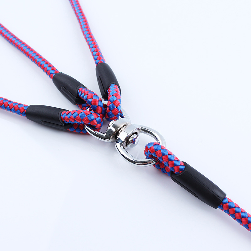 Fashion 3 Way Couplers Dog Leash For 3 Dogs Pet Walking Lead 55 Long Nylon Braided big dog Rope ZL172