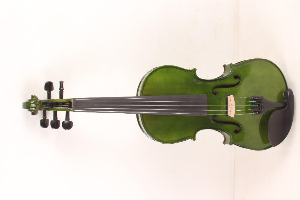 new 5 String 4/4 Electric Acoustic Violin dark brown color #1 2547#
