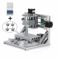 Diy cnc 1610 machine Pcb Pvc Milling Machine 2 in 1 Wood Carving mini router 1610 GRBL control