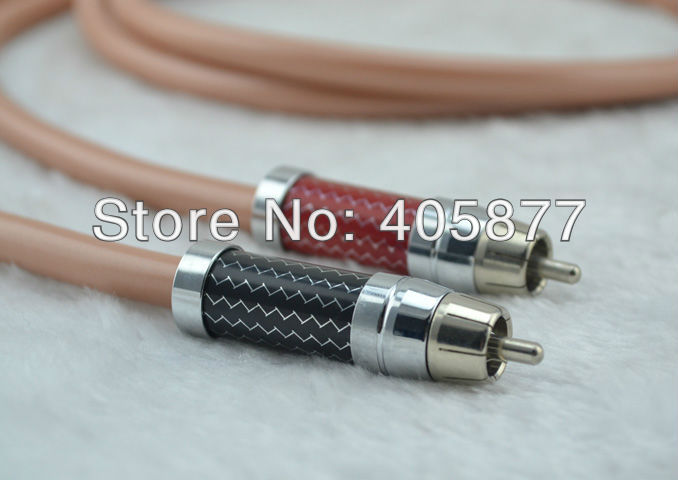 Фотография Pair Hifi  audio the only sound Interconnect Cable 1.5m with Carbon Firber RCA PLUG CABLE