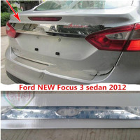 car styling For Ford New Focus 3 Sedan 2012 Chrome Rear Boot Door Trunk Lid Cover Trim TAILGATE GARNISH Accessories