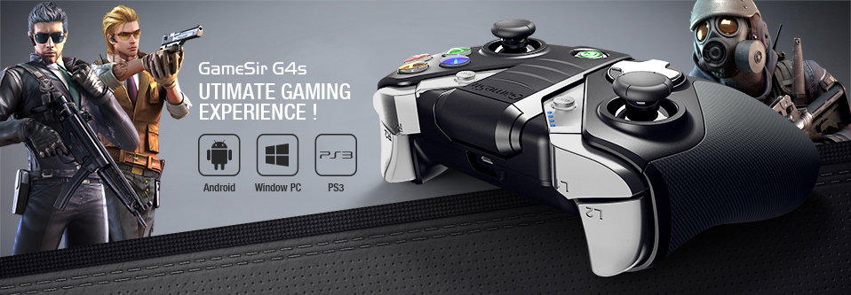 GameSir G4s Android Gamepad for Smartphone Bluetooth 4 0 for PS3 Android TV  BOX 2 4GHz Wireless Controller for PC VR Games